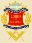 The banner for the Masonic Lodge of Friendship 5909 - Warwickshire. A group of Freemasons, practising Freemasonry in Birmingham